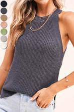 Load image into Gallery viewer, Knit Halter Tank Gray