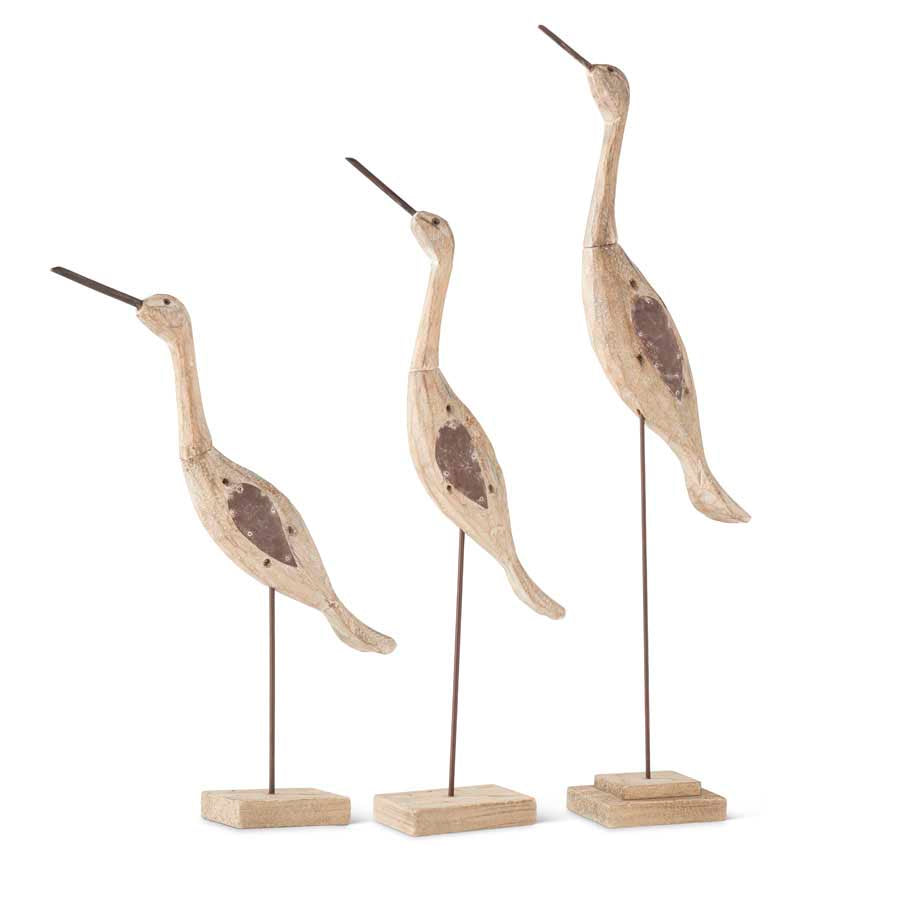 Distressed Wooden Herons (2 Sizes)