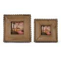 Wood & Corrugated Metal Picture Frames (2 Sizes)