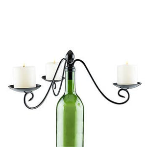 3 Votive Wine Bottle Candelabra