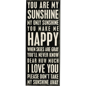 Box Sign - You Are My Sunshine
