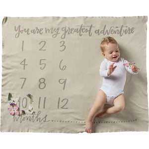 You're My Greatest Adventure Milestone Blanket