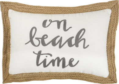 On Beach Time Pillow