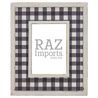 Black & White Buffalo Check Picture Frame
