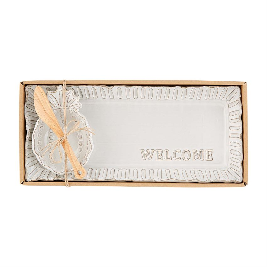 Welcome Pineapple Dip & Tray Set