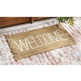 Welcome Jute Fringe Mat