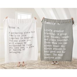 Family & Home Definition Throw Blankets