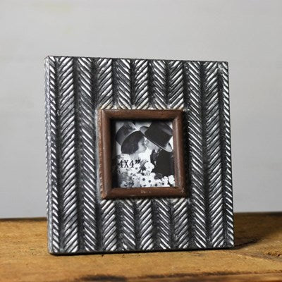 Pressed Tin Picture Frame