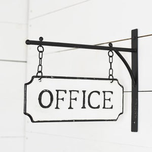 Office Tin Hanging Sign