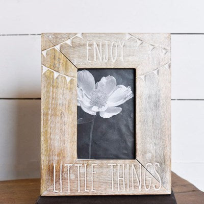 Enjoy Little Things Wood Picture Frame