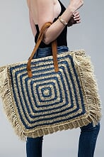 Handmade Yarn Dyed Square Shape Bag