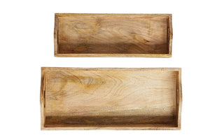 Rectangle Mango Wood Tray, Small or Large