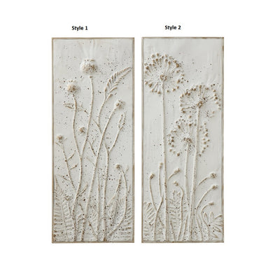 Metal Embossed Flowers Wall Decor