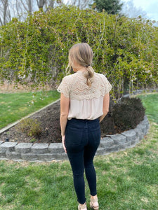 Lace Top Blouse