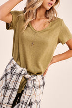Load image into Gallery viewer, Olive Drapey Tee