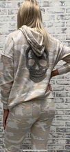 Load image into Gallery viewer, Light Camo Skull Hoodie