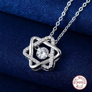 Dancing Heart Hexagram Necklace