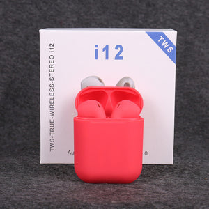 New i12 TWS wireless headphones bluetooth 5.0 earphone Mini Earbuds earphones Music Headset pk i10 i20 i30 TWS for iPhone xiaomi