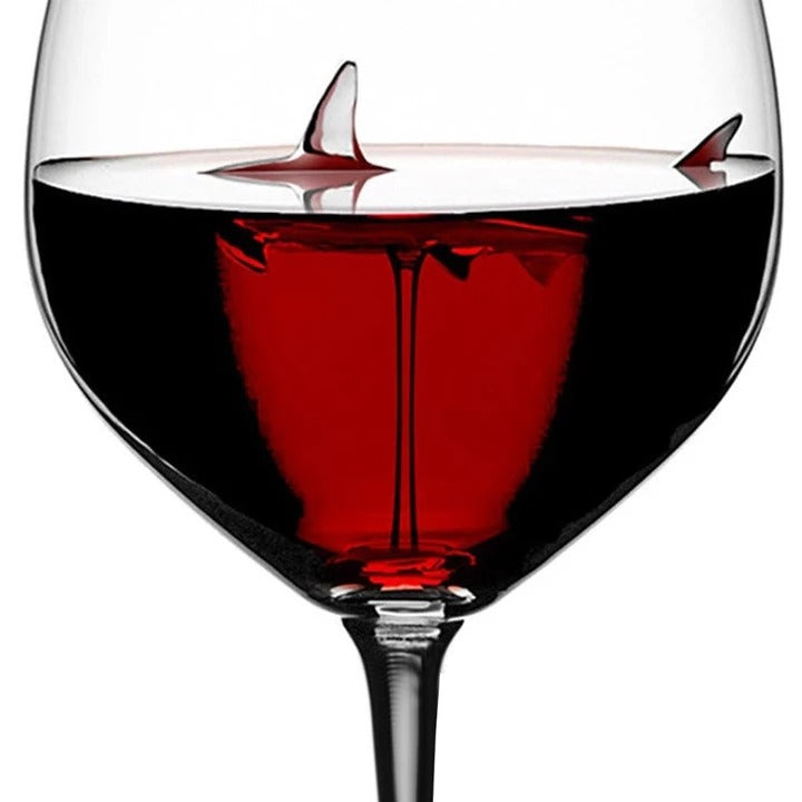SHARK RED WINE GOBLET