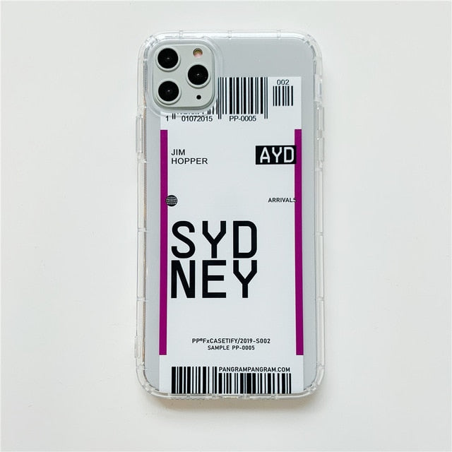 Travel Ticket iPhone Case 1