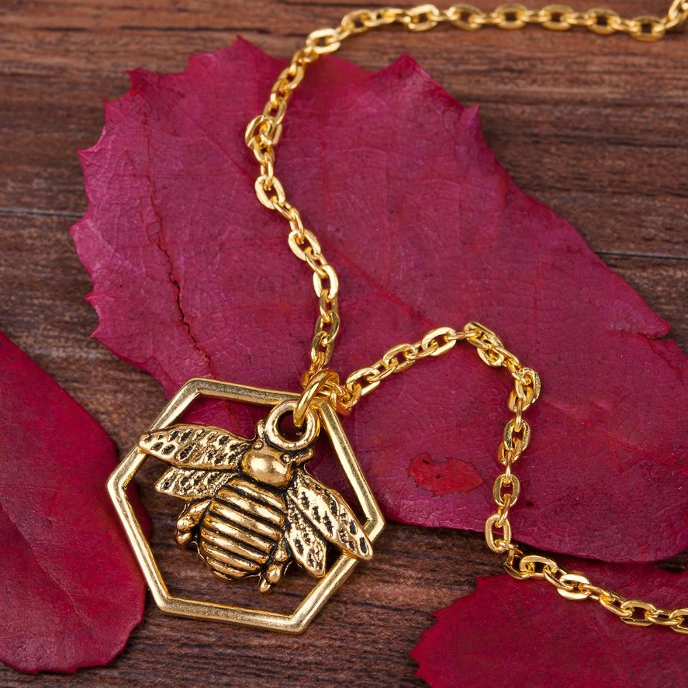 Stunning Gold Bee Necklace