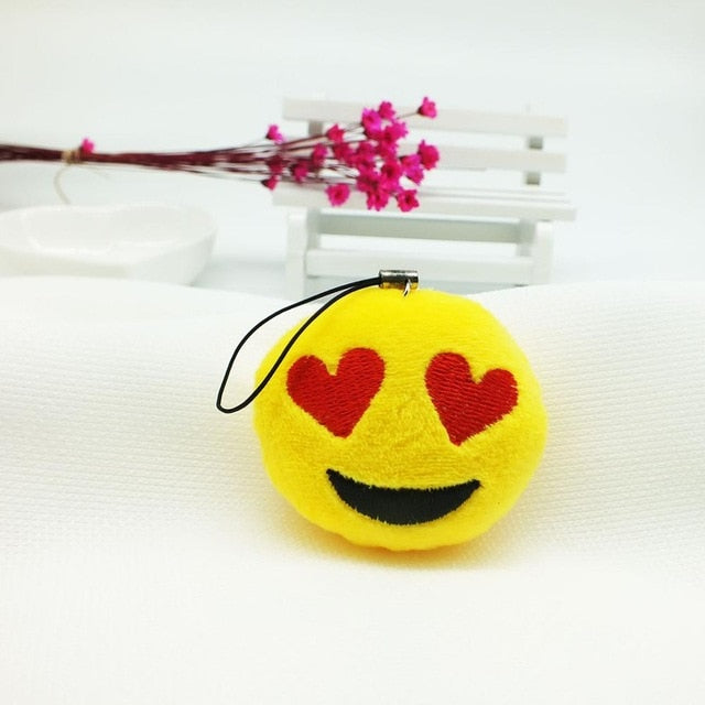 Smiling Face With Heart-Eyes Plush Keychain