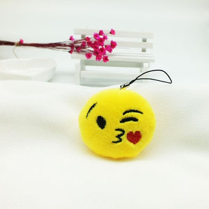 Face Blowing A Kiss Emoji Plush Keychain