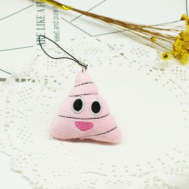 Zoeber emoji cute keychains cartoon face smile Soft Round Stuffed Plush Toy Doll Keyrings  2.7cm Phone women Key Holder figure
