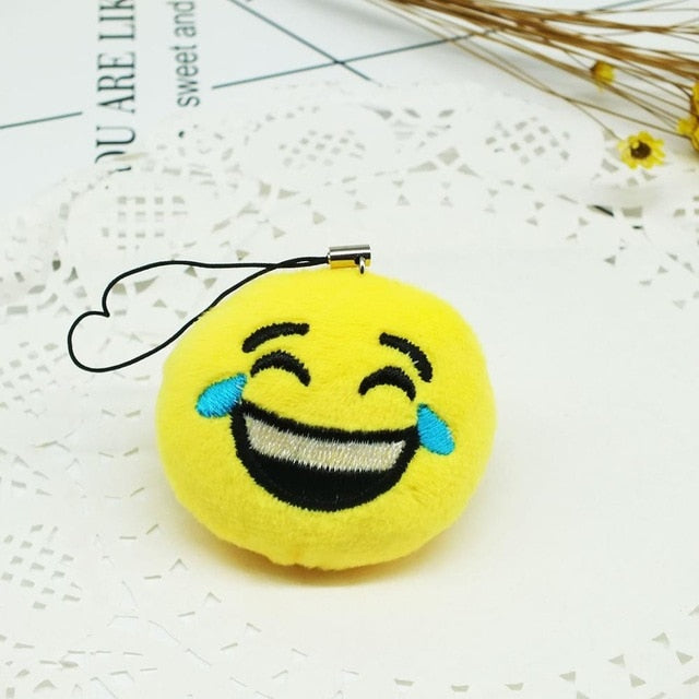 Face With Tears Of Joy Emoji Plush Keychain