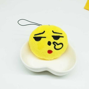 Thinking Face Emoji Plush Keychain