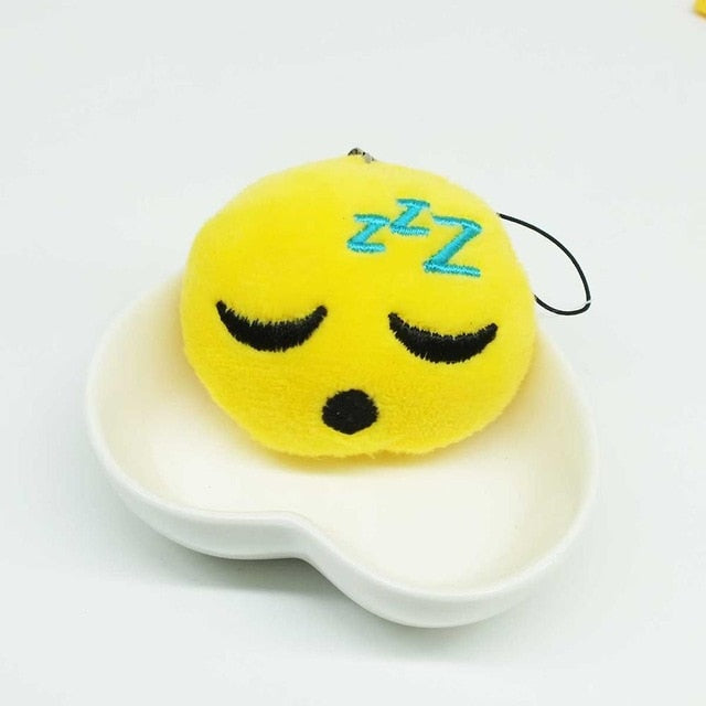 Sleeping Face Emoji Plush Keychain