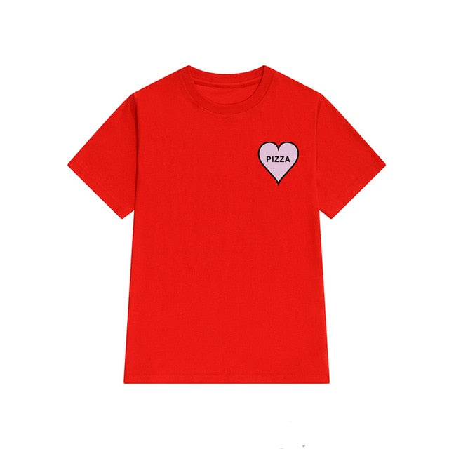 Heart Pizza Print Tee