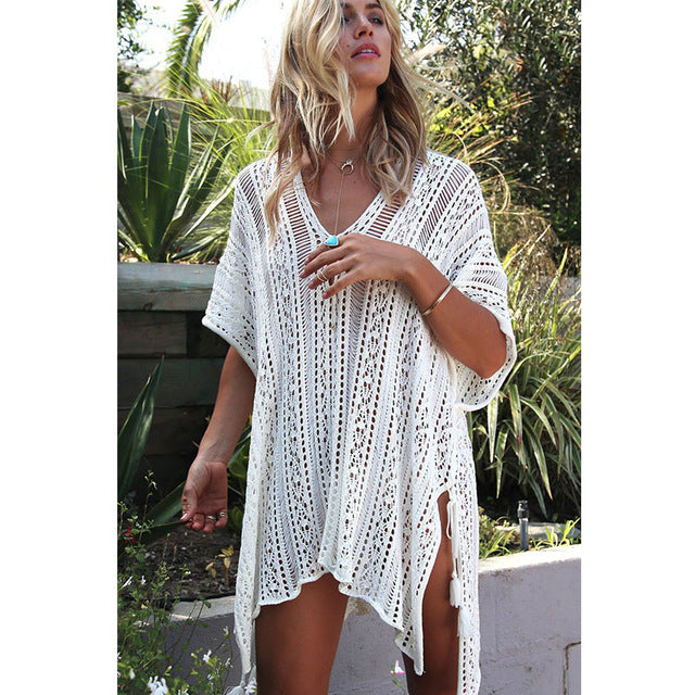 Crochet Knitted Beach Dress