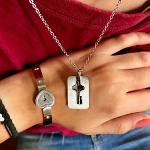 LOVE LOCK BRACELETS WITH KEY PENDANT NECKLACE