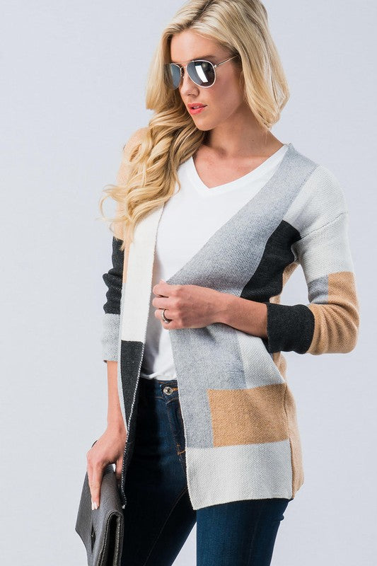 Colorblock Cardigan - P095