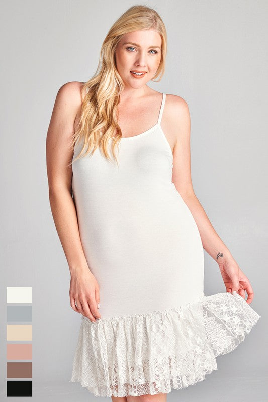 P192P Slip Extender (plus size) - Cream
