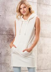 Charlie Paige Sleeveless Hooded Terry Tunic