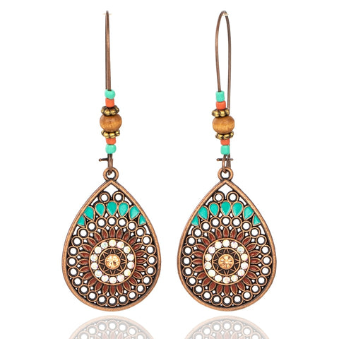Vintage Boho Drop Earrings f
