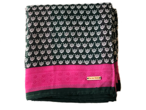 Black + Pink Throw Blanket