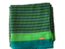 Green + Blue Throw Blanket