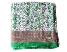White + Green Throw Blanket