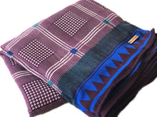 Purple + Blue Sa.ree Blanket - Bohemian Throw Blanket