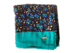 Blue + Blue Sa.ree Blanket | Blue Throw Blanket