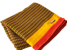 Mustard + Red Throw Blanket