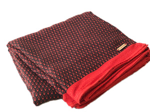 Black + Red Throw Blanket