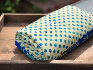 Blue Polka Dot Sa.ree Blanket