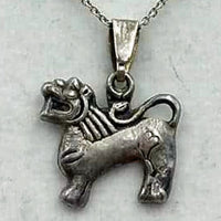 Tiffany, sterling silver chain, with Thai lion pendant.