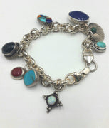 Charming Native American Charm Bracelet makes a fun gift.