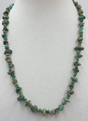 Vintage and NOS Nevada & Royston Turquoise necklace with sterling silver accents and clasp.