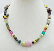Set of cosmic necklace and bracelet.Beautiful, multi-stone, colorful & fun set.